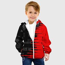 Детская 3D-куртка с капюшоном с принтом Noize MC, цвет: 3D-белый, артикул: 10279883905458 — фото 2