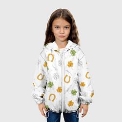 Куртка 3D с капюшоном для ребенка Клевер на День святого Патрика - фото 2