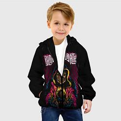 Детская 3D-куртка с капюшоном с принтом BLACK SABBATH, цвет: 3D-черный, артикул: 10289844705458 — фото 2