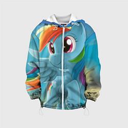 Детская 3D-куртка с капюшоном с принтом My littlle pony, цвет: 3D-белый, артикул: 10063817905458 — фото 1