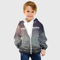 Куртка с капюшоном детская Imagine Dragons: Night Visions цвета 3D-белый — фото 2