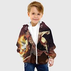 Куртка с капюшоном детская Fairy tail цвета 3D-белый — фото 2