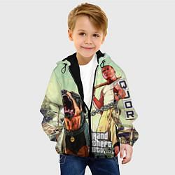 Куртка с капюшоном детская GTA 5: Franklin Clinton цвета 3D-черный — фото 2