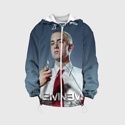 Детская 3D-куртка с капюшоном с принтом Eminem Fire, цвет: 3D-белый, артикул: 10070930305458 — фото 1