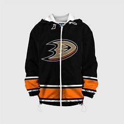 Детская 3D-куртка с капюшоном с принтом Anaheim Ducks Selanne, цвет: 3D-белый, артикул: 10071132505458 — фото 1