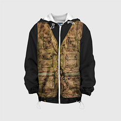 Детская 3D-куртка с капюшоном с принтом Жилетка охотника, цвет: 3D-белый, артикул: 10077041905458 — фото 1