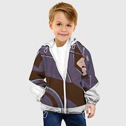 Куртка с капюшоном детская Knights Headgear цвета 3D-белый — фото 2