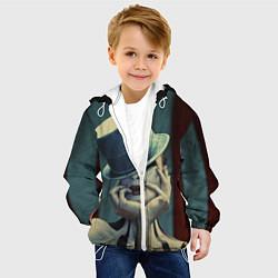 Куртка с капюшоном детская American horror girl цвета 3D-белый — фото 2