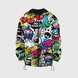 Детская 3D-куртка с капюшоном с принтом Bombing, цвет: 3D-черный, артикул: 10081565605458 — фото 1