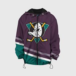 Детская 3D-куртка с капюшоном с принтом Anaheim Ducks Selanne, цвет: 3D-черный, артикул: 10081945705458 — фото 1