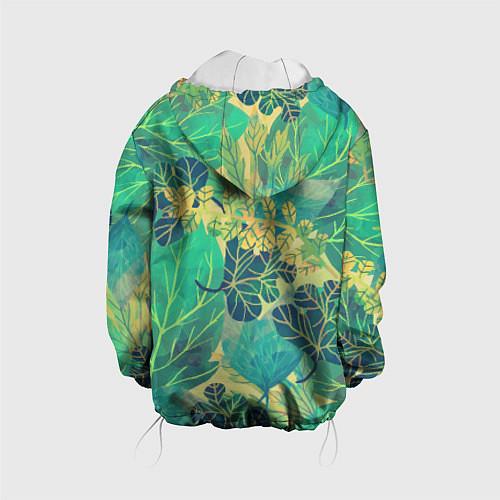 Детская куртка Узор из листьев / 3D-Белый – фото 2