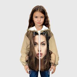 Куртка с капюшоном детская Анжелина Джоли цвета 3D-белый — фото 2