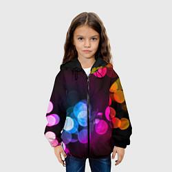 Детская 3D-куртка с капюшоном с принтом Light Spots, цвет: 3D-черный, артикул: 10085191405458 — фото 2