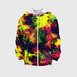 Куртка с капюшоном детская Кислотный взрыв цвета 3D-белый — фото 1