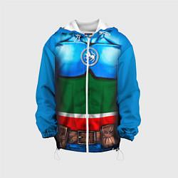 Детская 3D-куртка с капюшоном с принтом Капитан Татарстан, цвет: 3D-белый, артикул: 10086777805458 — фото 1