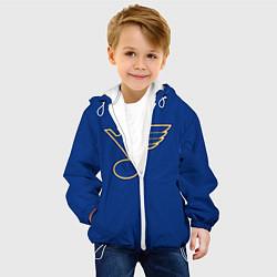 Куртка с капюшоном детская St Louis Blues: Tarasenko 91 цвета 3D-белый — фото 2