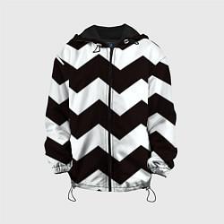 Куртка с капюшоном детская Полосы цвета 3D-черный — фото 1