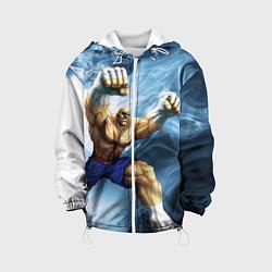 Куртка с капюшоном детская Muay Thai Rage цвета 3D-белый — фото 1