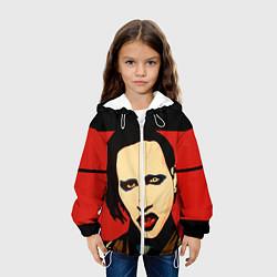 Куртка с капюшоном детская Mаrilyn Manson цвета 3D-белый — фото 2