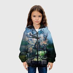 Детская 3D-куртка с капюшоном с принтом За родину, цвет: 3D-черный, артикул: 10090115905458 — фото 2