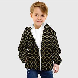 Куртка с капюшоном детская Узор цвета 3D-белый — фото 2