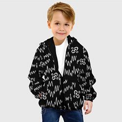 Куртка с капюшоном детская Chemical Brothers: Pattern цвета 3D-черный — фото 2