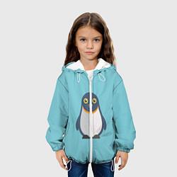 Детская 3D-куртка с капюшоном с принтом Пингвин, цвет: 3D-белый, артикул: 10096326805458 — фото 2