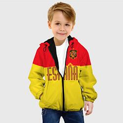 Куртка с капюшоном детская Сборная Испании: Евро 2016 цвета 3D-черный — фото 2