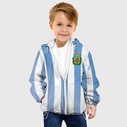 Детская 3D-куртка с капюшоном с принтом Сборная Аргентины: ЧМ-2018, цвет: 3D-белый, артикул: 10098598705458 — фото 2