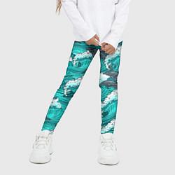 Леггинсы для девочки Лазурные дельфины цвета 3D — фото 2