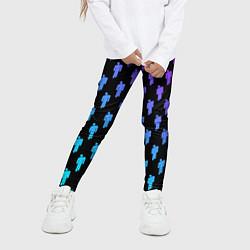 Леггинсы для девочки Billie Eilish: Neon Pattern цвета 3D-принт — фото 2