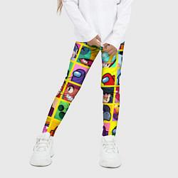 Детские 3D-лосины для девочки с принтом Among Us Brawl Stars Персона, цвет: 3D, артикул: 10283853105603 — фото 2