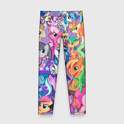 Леггинсы для девочки My Little Pony цвета 3D — фото 1