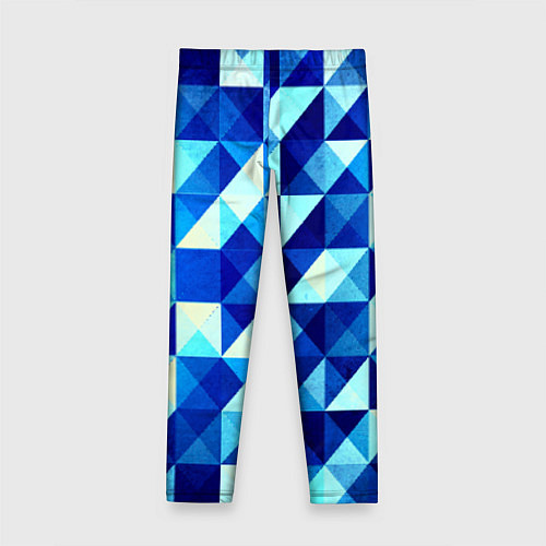 Детские леггинсы Синяя геометрия / 3D – фото 2
