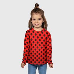Лонгслив детский Леди Баг: узор цвета 3D-принт — фото 2