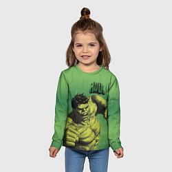 Лонгслив детский Hulk цвета 3D-принт — фото 2