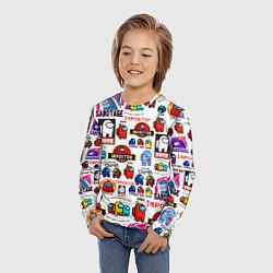 Лонгслив детский AMONG US цвета 3D — фото 2