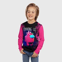 Детский 3D-лонгслив с принтом AMONG US, цвет: 3D, артикул: 10276988305609 — фото 2