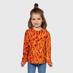 Лонгслив детский Морковь цвета 3D — фото 2