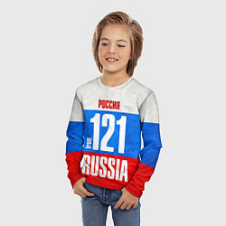 Лонгслив детский Russia: from 121 цвета 3D — фото 2