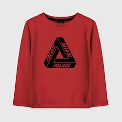 Лонгслив хлопковый детский Palace Triangle цвета красный — фото 1