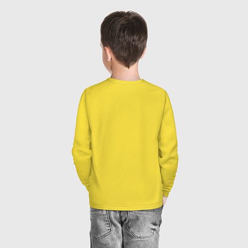Детский лонгслив Подруги навеки / Желтый – фото 4