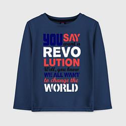 Детский лонгслив The Beatles Revolution