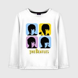 Детский лонгслив The Beatles: pop-art