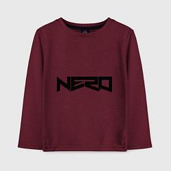 Лонгслив хлопковый детский Nero цвета меланж-бордовый — фото 1