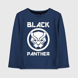Лонгслив хлопковый детский Черная пантера цвета тёмно-синий — фото 1