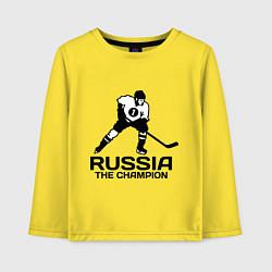 Детский лонгслив Russia: Hockey Champion