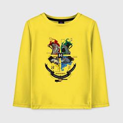Лонгслив хлопковый детский Гарри Поттер цвета желтый — фото 1