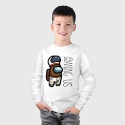 Лонгслив хлопковый детский Among Us Z цвета белый — фото 2