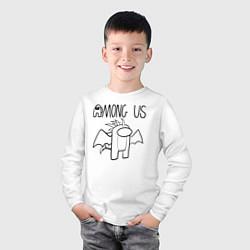 Лонгслив хлопковый детский Among Us цвета белый — фото 2